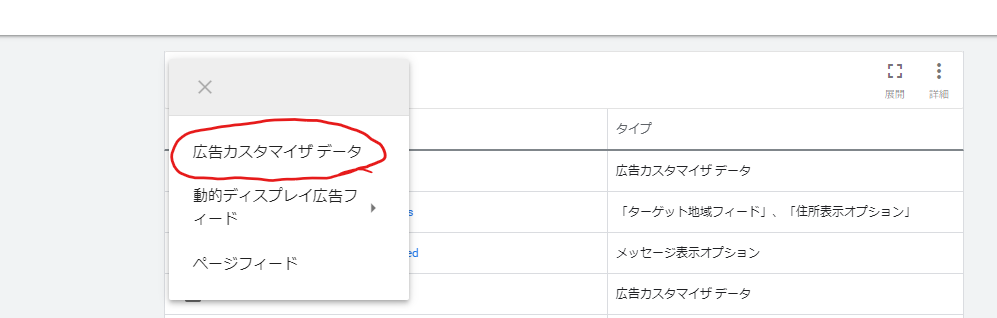 Google広告における広告カスタマイザの設定方法4