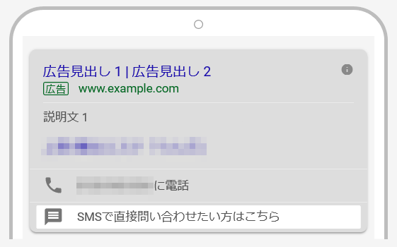 メッセージ表示オプションの表示例