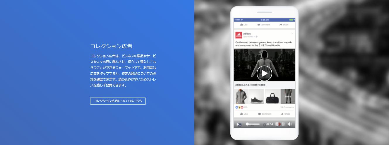Facebook コレクション広告