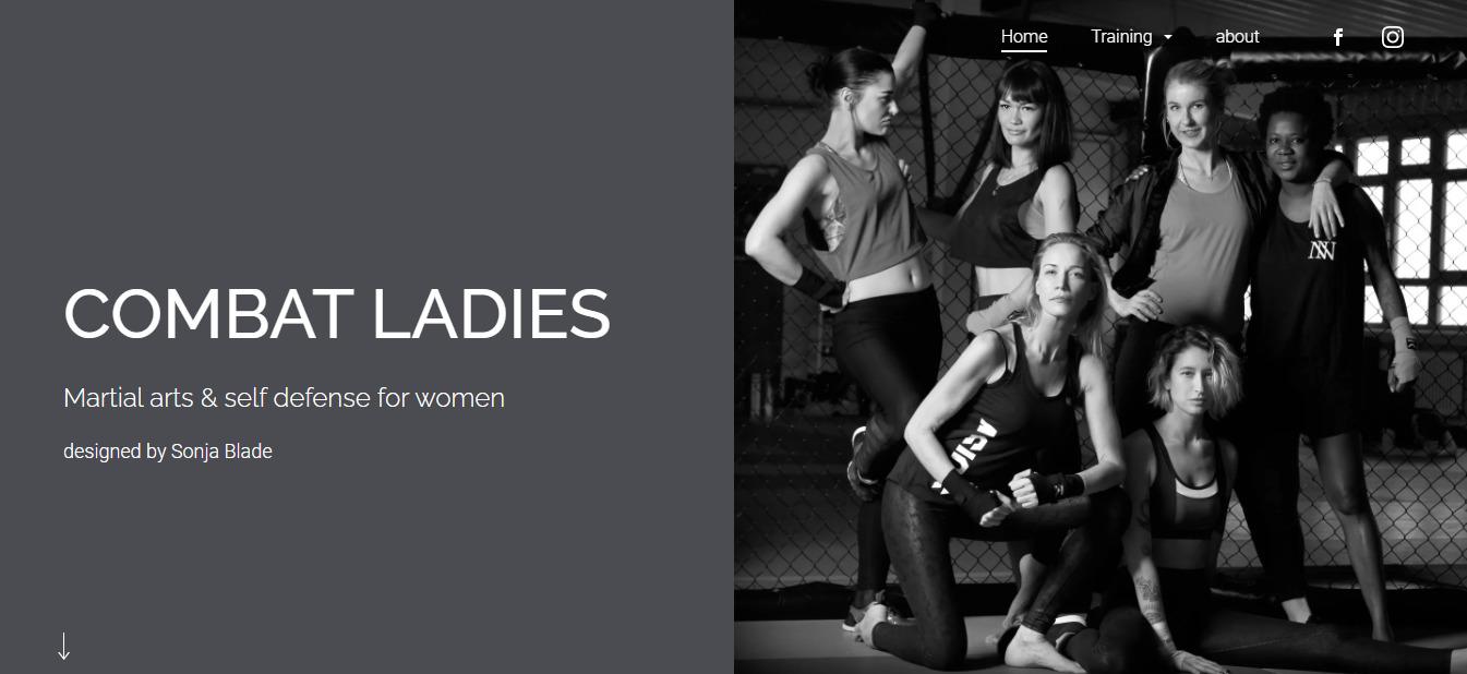 【Jimdo (ジンドゥー)で作ったホームページ②】COMBAT LADIES